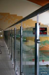 balustrady szklane chojnow basen 1